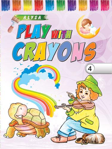 Alysa Play With Crayons - 4 - Indian Book Depot (Map House)