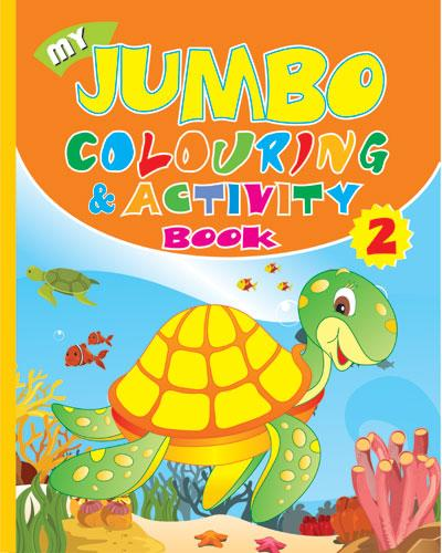 My Jumbo Colouring & Activity  - 2 - Indian Book Depot (Map House)
