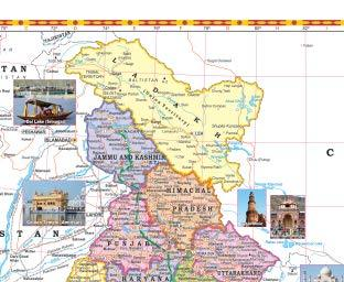 INDIA POLITICAL MAP (ENGLISH) SIZE 70 X 100 CMS - Indian Book Depot (Map House)