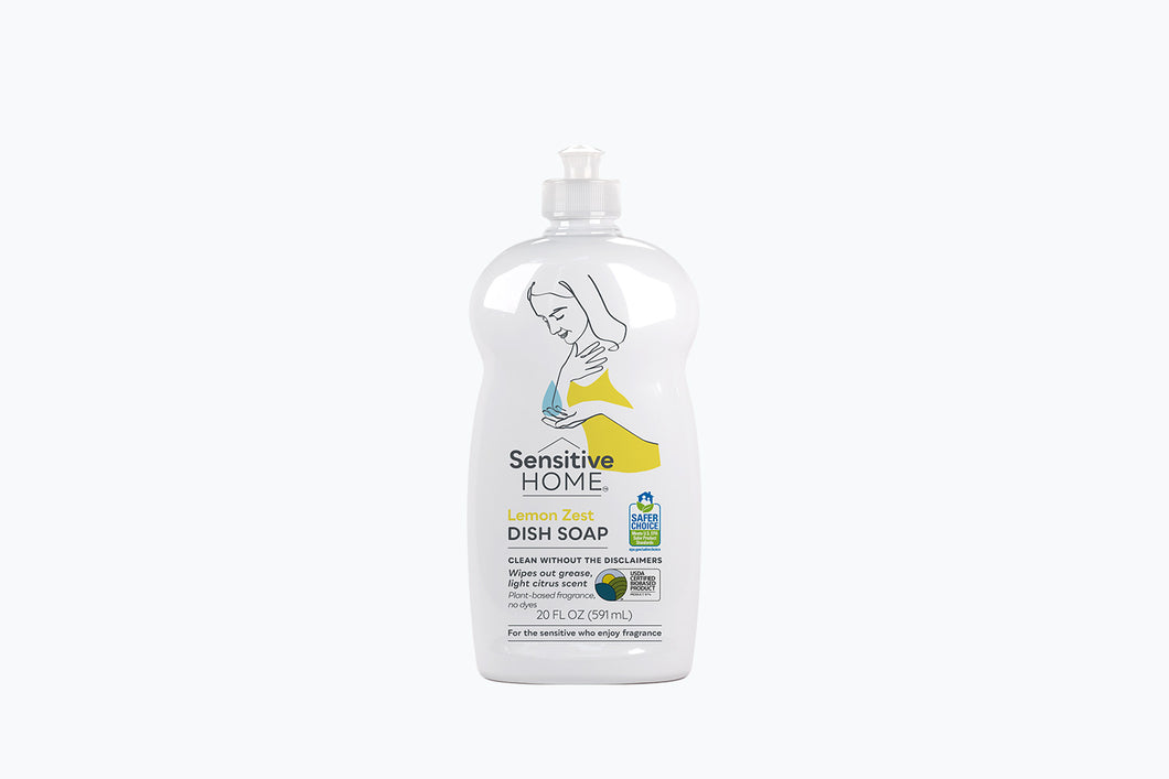 Dish Soap Lemon Zest front bottle view