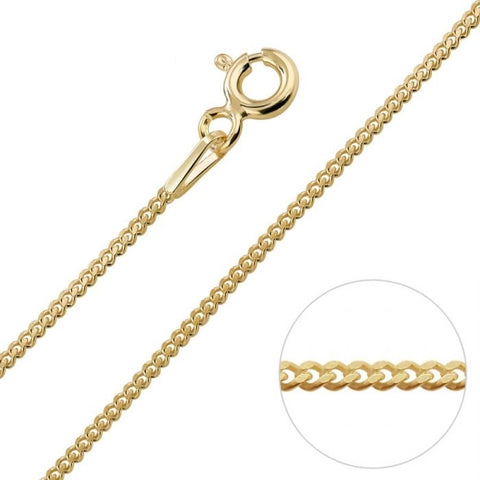 Collier gourmet 0,8 mm - 14K Geelgoud