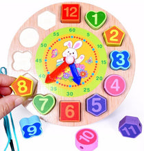 Load image into Gallery viewer, Wooden Toy Clock