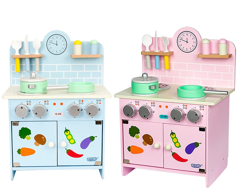 Pink and Blue Kid's Wooden Kitchens