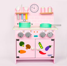 Load image into Gallery viewer, Pink wooden kitchen