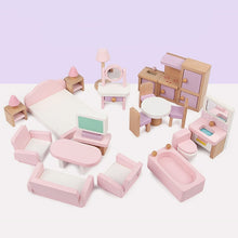 Load image into Gallery viewer, Wooden Doll House Furniture Set