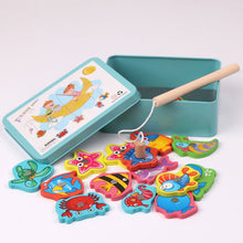 Load image into Gallery viewer, Wooden Magnetic Fishing Toy