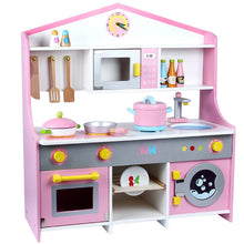 Load image into Gallery viewer, Wooden Kitchen for Kids Roleplay