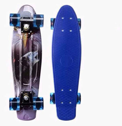 Children's sports plastic skateboard, novice transportation tool