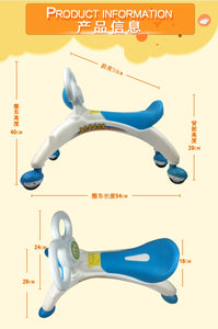 Children Four wheel Balance Bike kids toddle Scooter Baby Walker Tricycle Bike Ride Toy Gift kids 1-3 years learn to walk helper