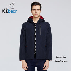ICEbear 2020 Mens Spring Jacket Mens Hooded Jacket Men Zipper Clothing Casual Men Clothing MWC20806I
