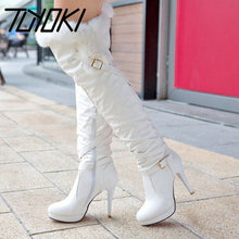 Load image into Gallery viewer, Tuyoki 2020 Simple Woman  Boots Winter Autumn Zipper Over Knee Boots Buckle Platform Sexy Daily Shoes Woman Size 34-43