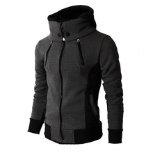 Load image into Gallery viewer, 2020 Zipper Men Jackets Autumn Winter Casual Fleece Coats Bomber Jacket Scarf Collar Fashion Hooded Male Outwear Slim Fit Hoody