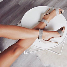 Load image into Gallery viewer, Summer Women Fashion Dancing High Heels Wedding Shoes Sexy Pump Female Cover Heel Party T-stage Transparent Crystal Sandals