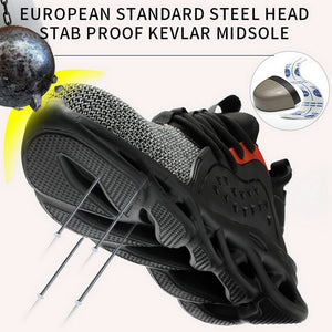 Work Safety Boot For Men Anti-Smashing Construction Safety Shoes Steel Toe Cap Work Shoes Indestructible Safety Sneakers