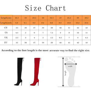 2020 Ladies Shoes High Heels Women Over The Knee Boots Scrub Black Pointed Toe Woman Motorcycle Boots Winter Boots Women