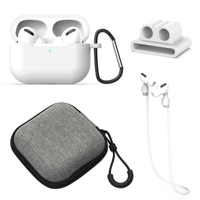 5 Pcs/Set Silicone Case For Airpods Pro Case Wireless Bluetooth for apple airpods pro Case Cover Earphone Case For Air Pods pro