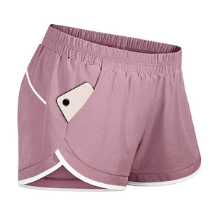 Popular workout shorts with liner pockets for women