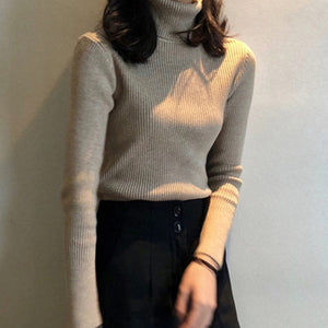 Women Sweaters 2020 Autumn Winter Tops Korean Slim Women Pullover Knitted Sweater Jumper Soft Warm Pull Femme