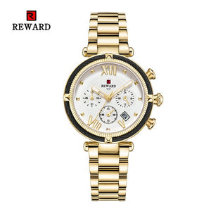 REWARD Women Watch Luxury 2020 Fashion Quartz Wristwatch Stainless Steel Strap Rose Golden Girls Clock Elegant Lady reloj mujer