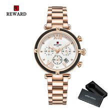 Load image into Gallery viewer, REWARD Women Watch Luxury 2020 Fashion Quartz Wristwatch Stainless Steel Strap Rose Golden Girls Clock Elegant Lady reloj mujer