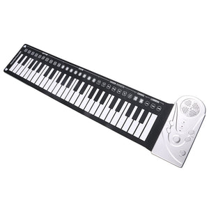 Multi Style Portable 49 Keys Flexible Silicone Roll Up Piano Folding Electronic Keyboard For Children