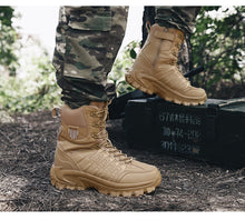 Load image into Gallery viewer, Free Delivery Men Military Boots Outdoor Hiking Work Casual Shoes Men Sneakers Non-slip Rubber Boots Tactical Desert Combat