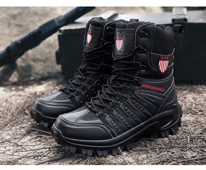 Free Delivery Men Military Boots Outdoor Hiking Work Casual Shoes Men Sneakers Non-slip Rubber Boots Tactical Desert Combat