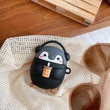 Load image into Gallery viewer, Cute Milk tea music penguin 3D Case For AirPods 1 2 pro Charging Box Soft Silicone Wireless Bluetooth Earphone Protective Cover