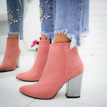 Load image into Gallery viewer, Dropship 2020 High Heels Women Shoes Winter Autumn Women Boots Chain Shoes Casual Woman Pumps Warm Ankle Boots Mujer Zapatos