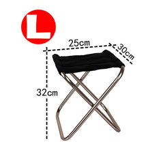 Load image into Gallery viewer, Folding Fishing Chair Lightweight Picnic Camping Chair Foldable Aluminium Cloth Outdoor Portable Beach Chair Outdoor Furniture