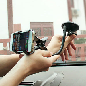 1PC Black Universal 360 Degree Car Holder Windshield Mount Bracket for Mobile Phone GPS Car Interior Accessories Auto Parts