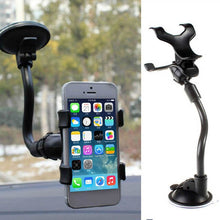Load image into Gallery viewer, 1PC Black Universal 360 Degree Car Holder Windshield Mount Bracket for Mobile Phone GPS Car Interior Accessories Auto Parts
