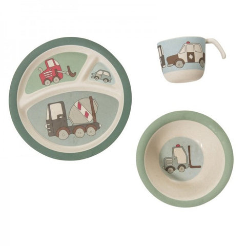 Sebra - Bamboo Dinner Set, Village Boy - vivalatoys.com