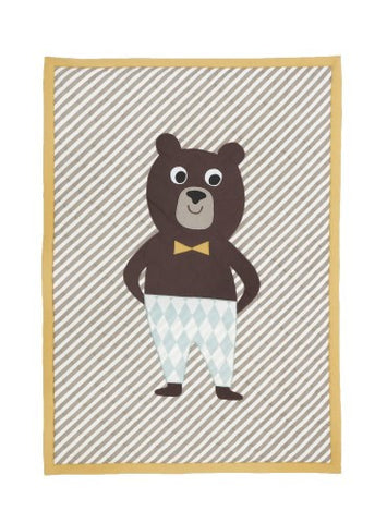Ferm Living - Bear Quilted Blanket - vivalatoys.com