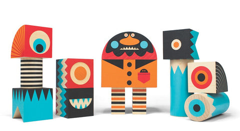 Uncle Goose - Stack & Scare! Stackable Monster Block Set Four