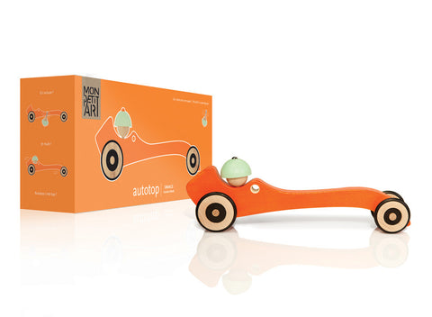 Mon Petit Art - Autotop Orange Car - vivalatoys.com