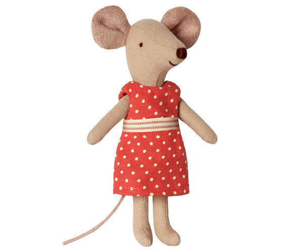 Maileg - Mouse Big Sister In Box, Red Dress