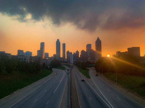 Jackson Street Sunset - J. Thomas Photography