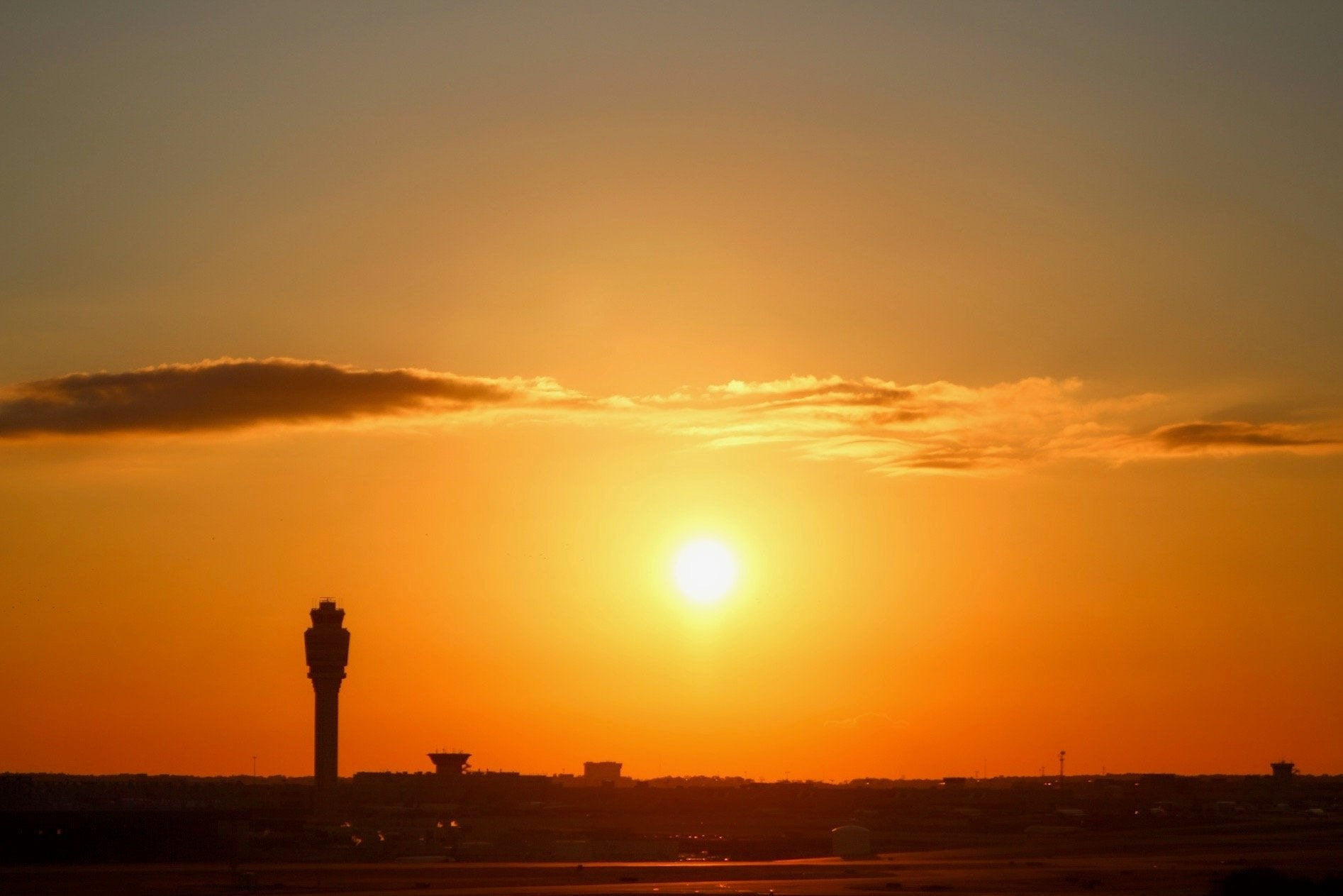 Atlanta Airport Sunset - J. Thomas Photography