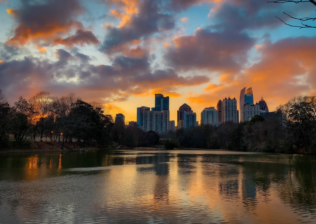 Piedmont Park Sunset (24 x 36 Canvas Print) - J. Thomas Photography