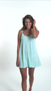 "BABYDOLL SLEEP DRESS<br><span class=""cc-color"">seafoam</span>"