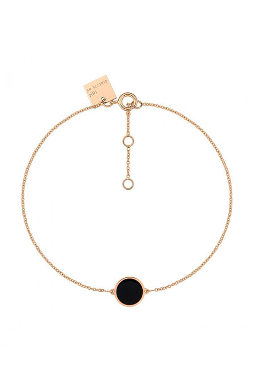 Ginette NY Mini Ever Onyx Disc Bracelet