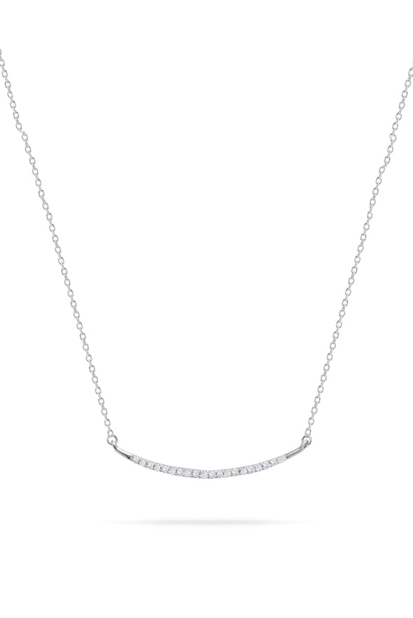 Adina Reyter Large Pave Curve Silver Necklace