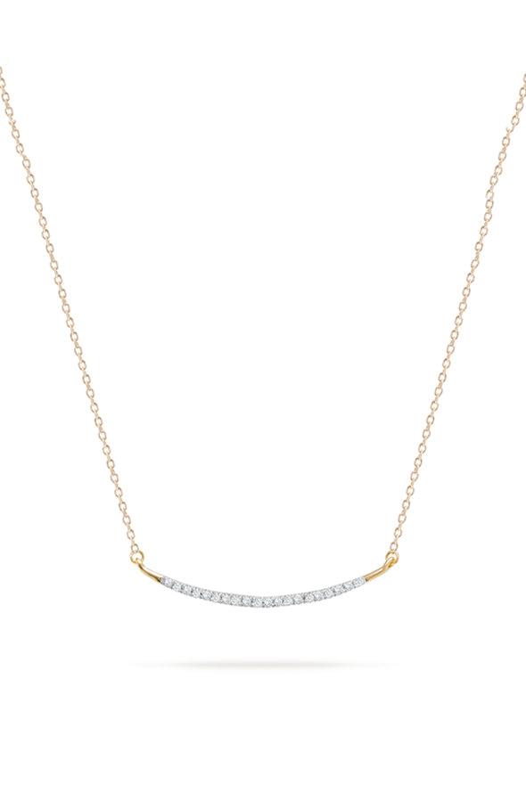 Adina Reyter Large Pave Curve 14k Gold Necklace