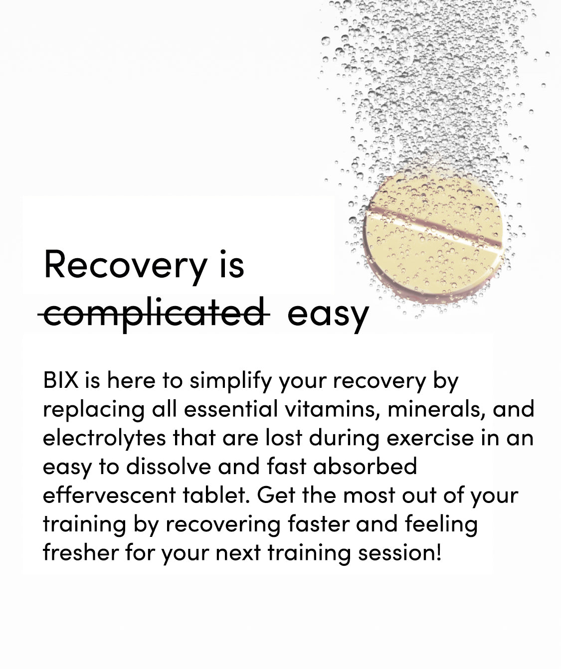 Hydration tablets to help recovery and performance for runners and athletes