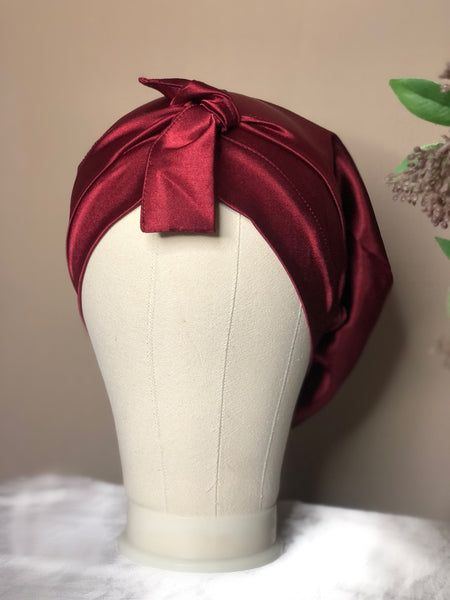 Shelela Burgundy Bonnet/ Doek