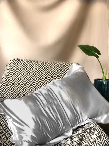 Bonolo Collection - Silver Satin Oxford Pillow Case Set