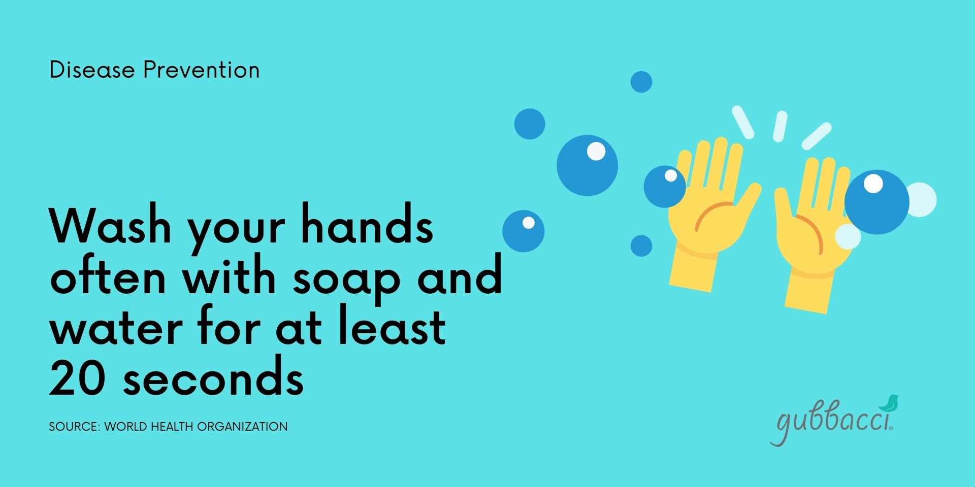 Disease prevention notice - wash your hands