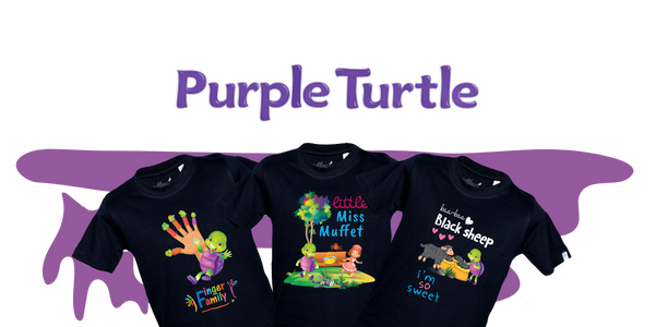 Purple turtle in association with Gubbacci