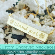 Load image into Gallery viewer, Custom Engraved Bar Name Necklace - 18k Gold Vermeil FJD$ - Adorn Pacific